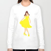 belle Long Sleeve T-shirts featuring Belle by Eva Duplan Illustrations