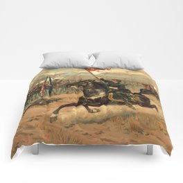 Civil War Sheridan's Ride by Thure de Thulstrup (1886) Comforters