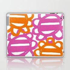 Fun Flowers Large pink orange Laptop & iPad Skin