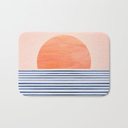 Summer Sunrise - Minimal Abstract Bath Mat