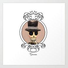 Dia de los Muertos Novio Art Print