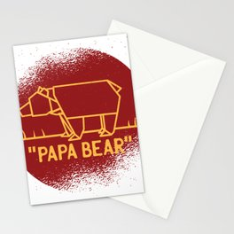 Papa Baer red Stationery Cards