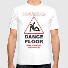 Cuation: breakdancing Mens Fitted Tee MEDIUM White