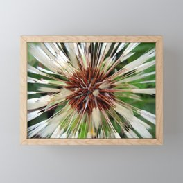 Dandelion after rain Framed Mini Art Print