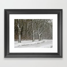 Snow Storm Framed Art Print