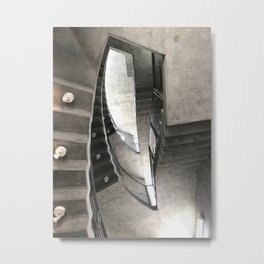 Jet Propulsion Stairwell Metal Print