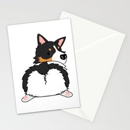 Tri Corgi Butt Stationery Cards
