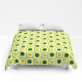 Geometric Pattern 210 (lime green) Comforters