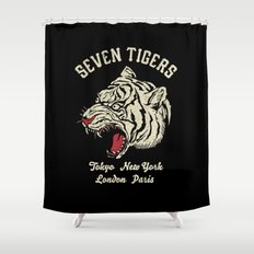 Seven Tigers Shower Curtain