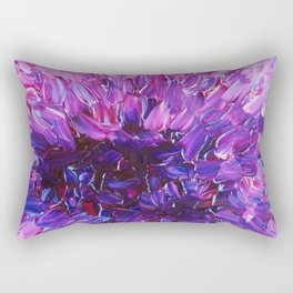 LOTUS BLOSSUM - Beautiful Purple Floral Abstract, Modern Decor in Eggplant Plum Lavender Lilac Rectangular Pillow
