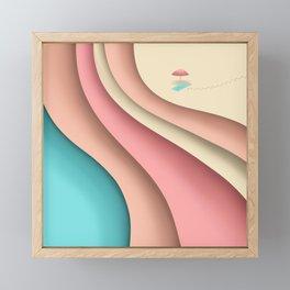Beach layers Framed Mini Art Print