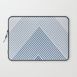 Shades of Blue Abstract geometric pattern Laptop Sleeve