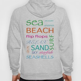 Beach typography Hoody
