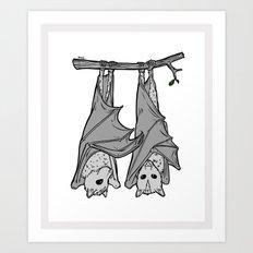 Tickle Bats Art Print