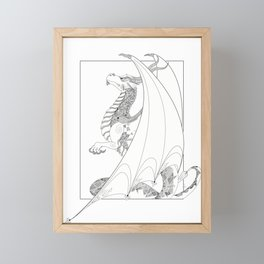 White Dragon Era Framed Mini Art Print