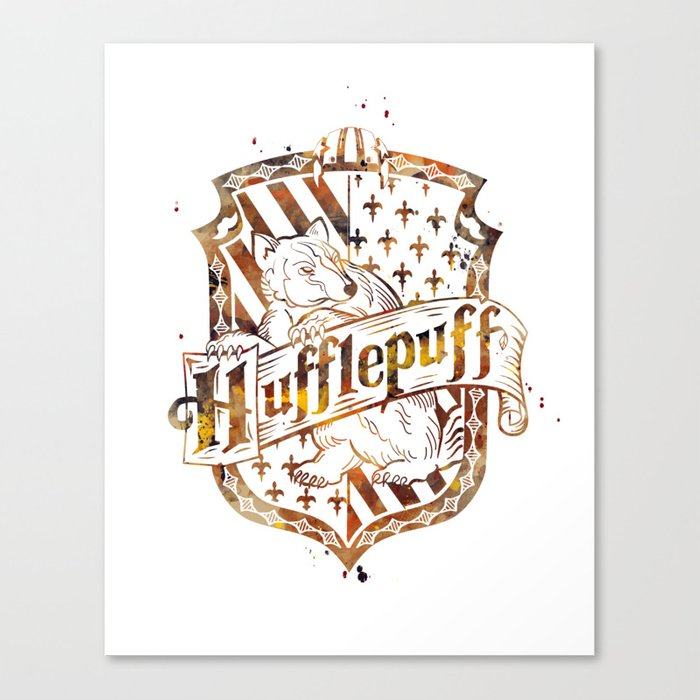 Hufflepuff Crest Leinwanddruck