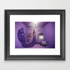 Purple Framed Art Print