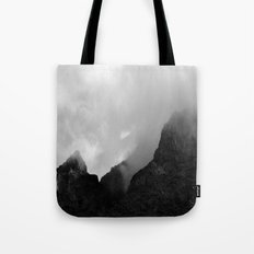 Fog on the mountains### Tote Bag