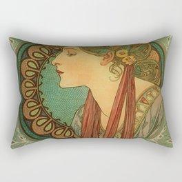 Alphonse Mucha Laurel Rectangular Pillow