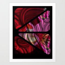 swirled pink Art Print