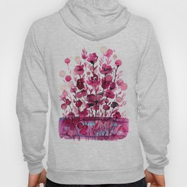 Floral Charm No.1D by Kathy Morton Stanion Hoody