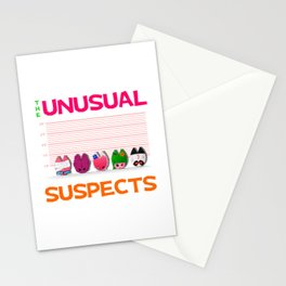 The Unusual Suspects Stationery Cards
