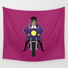 The Emoji-fication of His Purple Majesty: Motorcycle Wall Tapestry