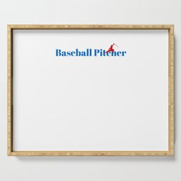 Top Baseball Pitcher Serving Tray