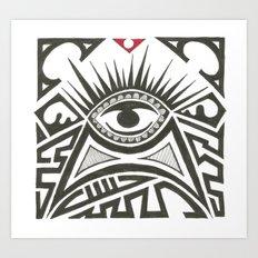 All seeing eye Art Print