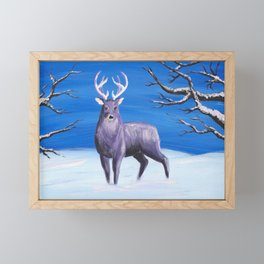 Purple Deer Framed Mini Art Print