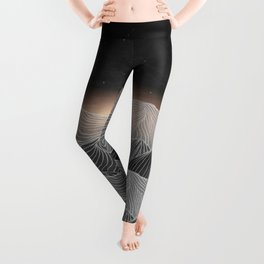 Lines in the mountains XIX Leggings