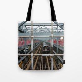 J Train - Williamsburg Bridge Tote Bag