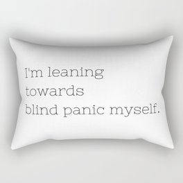 Blind Panic - Buffy, the Vampire Slayer - TV Show Collection Rectangular Pillow