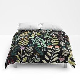 Dark Botanic Comforters