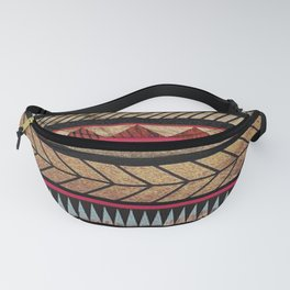 African Tribal Pattern No. 125 Fanny Pack