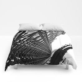 Paris, black and white Comforters