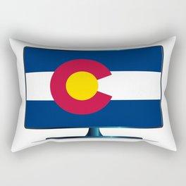 Colorado Flag TV Rectangular Pillow