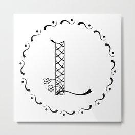 L - decorative monogram. Metal Print