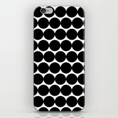 Black & White Polka Spots iPhone & iPod Skin