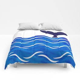 Blue Whale Tail Comforters