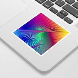 Outburst Spiral Fractal neon colored Sticker