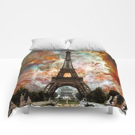 The Eiffel Tower - Paris France Art By Sharon Cummings Comforters