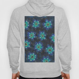 Blue Lace Rose Hoody