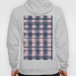 Dusty rose and Blue Modern Tartan Hoody