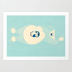Floating... Art Print
