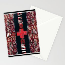 262  black white red Stationery Cards