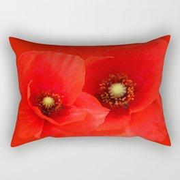 Two Poppies Rectangular Pillow