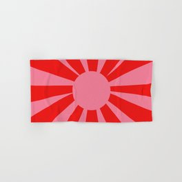 Pink Red Summer Sun Hand & Bath Towel