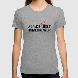 World's 2nd Best Homebrewer T-shirt