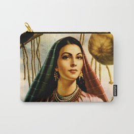Jesus Helguera Painting of a Mexican Fisher Girl With Basket Carry-All Pouch